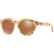 Buy Dolce and Gabbana DG4274 Oval Framed Sunglasses, Pink Online at johnlewis.com