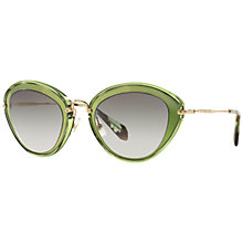 Buy Miu Miu MU51RS Cat's Eye Metal Sunglasses Online at johnlewis.com