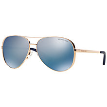 Buy Michael Kors MK5004 Chelsea Polarised Aviator Sunglasses Online at johnlewis.com