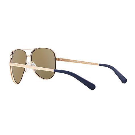 1b6aa6b2e2 Michael Kors Mk5004 Chelsea Polarised Aviator Sunglasses Brown ...