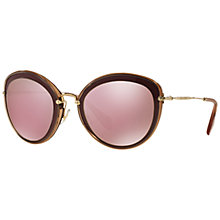 Buy Miu Miu MU50RS Cat's Eye Metal Sunglasses Online at johnlewis.com