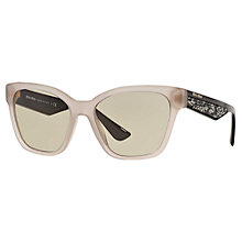 Buy Miu Miu MU06RS Embellished Square Sunglasses Online at johnlewis.com