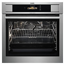 Buy AEG BS836680KM ProCombi Electric Single Steam Oven, Stainless Steel Online at johnlewis.com