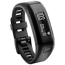 Buy Garmin vivosmart HR Sports Activity Tracker Watch With Wrist Heart Rate Monitor, Regular, Black and save £10 on Garmin Index Smart Scale Black Online at johnlewis.com