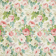 Buy Sanderson Chelsea Pink Celedon Fabric, Price Band F Online at johnlewis.com