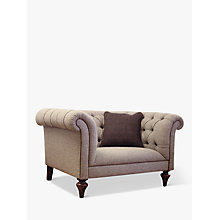 Buy Tetrad Harris Tweed Gleneagles Snuggler Sofa, Heather Tweed with Brompton Tan Piping Online at johnlewis.com