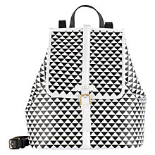 Buy Radley Jonathan Saunders Medium Leather Backpack, Monochrome Online at johnlewis.com