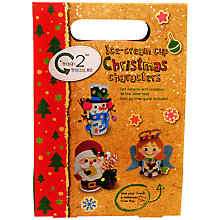Buy Trash 2 Treasure Ice Cream Cup Christmas Characters Craft Kit Online at johnlewis.com