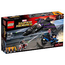 Buy LEGO Super Heroes Marvel Captain America Black Panther Pursuit Online at johnlewis.com