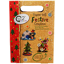 Buy Trash 2 Treasure Paper Roll Festive Creation Craft Kit Online at johnlewis.com
