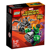 Buy LEGO Super Heroes 76066 Marvel Superheroes Mighty Micros Hulk Vs. Ultron Online at johnlewis.com