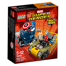 Buy LEGO Marvel Super Heroes Mighty Micros Captain America Vs. Red Skull Online at johnlewis.com