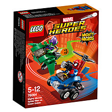 Buy LEGO Marvel Super Heroes 76064 Mighty Micros Spider-Man Vs. Green Goblin Online at johnlewis.com