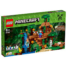 Buy LEGO Minecraft 21125 The Jungle Tree House Online at johnlewis.com