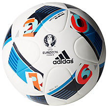 Buy Adidas UEFA EURO 2016 Mini Football, White Online at johnlewis.com