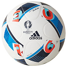 Buy Adidas UEFA Euro 2016 Top Replique X Ball, Size 5, White Online at johnlewis.com