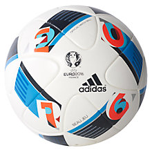 Buy Adidas UEFA Euro 2016 Official Match Football, White Online at johnlewis.com