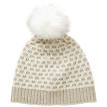 Buy Pure Collection Gabriel Purist Undyed Cashmere Textured Hat, Natural/Pure White Online at johnlewis.com