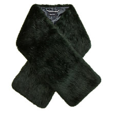 Buy Karen Millen Colourful Faux Fur Scarf, Green Online at johnlewis.com