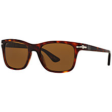 Buy Persol PO3135S Polarised Square Sunglasses, Tortoise Online at johnlewis.com