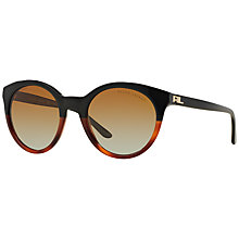Buy Ralph Lauren RL8138 Polarised Round Sunglasses, Black Online at johnlewis.com