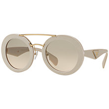 Buy Prada PR5SS Ornate Textured Round Gradient Sunglasses Online at johnlewis.com