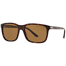 Buy Ralph Lauren RL8142 Polarised Square Sunglasses,Tortoise Online at johnlewis.com