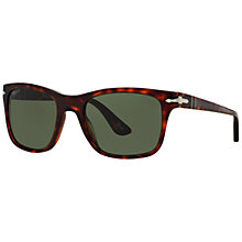 Buy Persol PO3135S Square Sunglasses, Tortoise/Grey Online at johnlewis.com