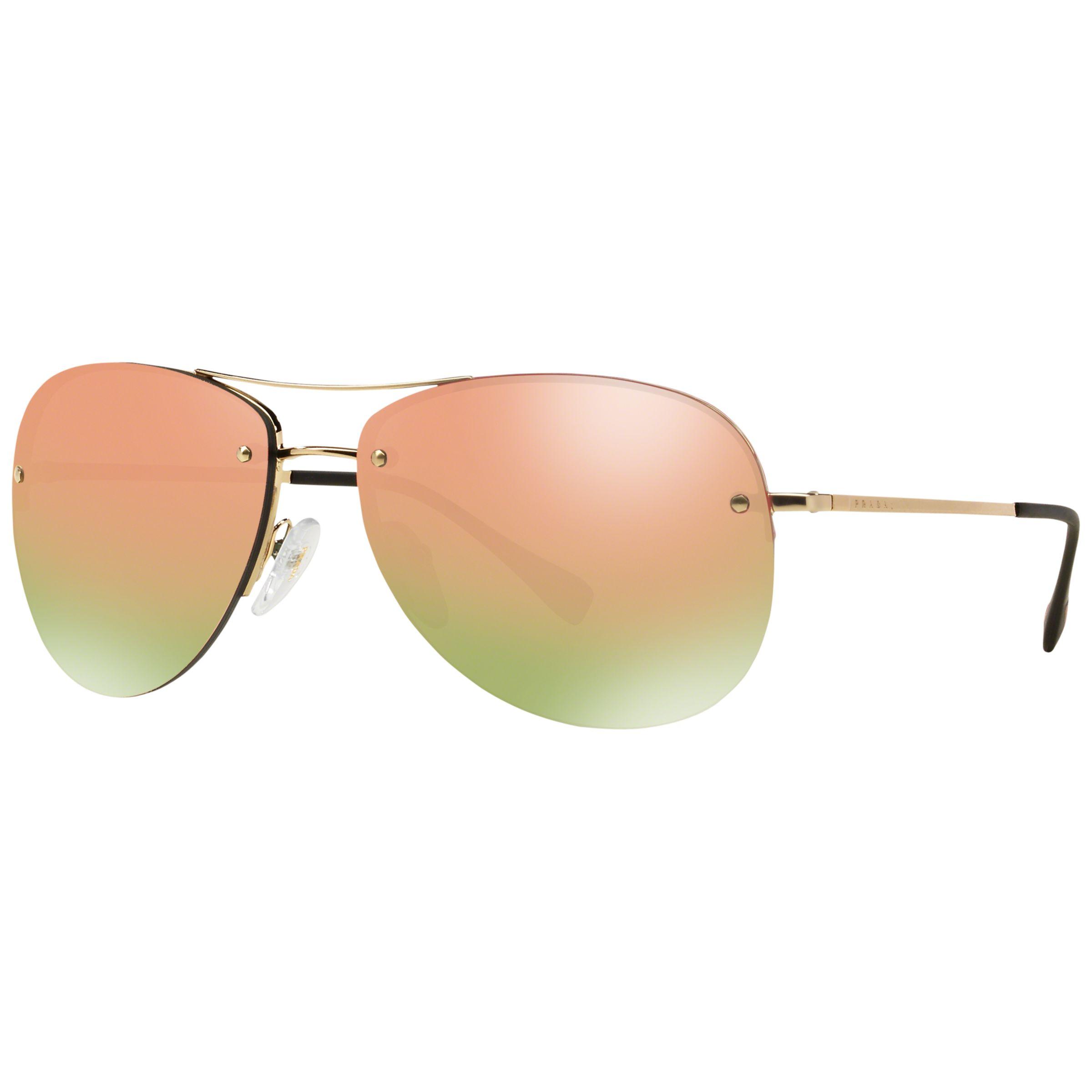 Prada Linea Rossa Prada Linea Rossa PS50RS Mirrored Aviator Sunglasses