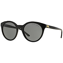 Buy Ralph RL8138 Round Sunglasses, Black Online at johnlewis.com