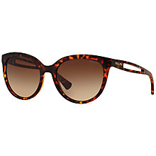 Buy Ralph RA5204 Round Sunglasses, Tortoise Online at johnlewis.com
