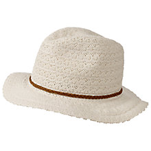 Buy Fat Face Lace Trilby Hat, Natural Online at johnlewis.com