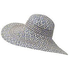 Buy Fat Face Zig Zag Floppy Sun Hat, Navy/White Online at johnlewis.com