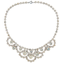 Buy Susan Caplan Vintage Bridal 1960s Chrome Plated Austrian Crystal Edwardian Style Necklace, Silver Online at johnlewis.com