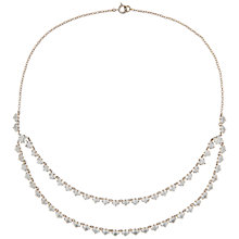 Buy Susan Caplan Vintage Bridal 1930s Chrome Plated Austrian Crystal Deco Necklace, Silver Online at johnlewis.com
