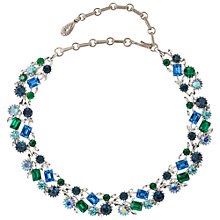 Buy Susan Caplan Vintage Bridal 1950s Lisner Silver Plated Swarovski Crystal Necklace, Green/Blue Online at johnlewis.com