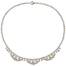 Buy Susan Caplan Vintage Bridal 1960s Chrome Plated Austrian Crystal Necklace, Silver Online at johnlewis.com