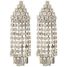 Buy Susan Caplan Vintage Bridal 1960s Chrome Plated Austrian Crystal Clip-On Drop Earrings, Silver Online at johnlewis.com