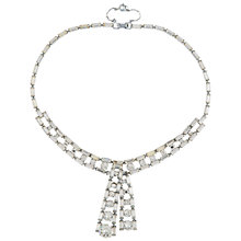 Buy Susan Caplan Vintage Bridal 1960s Chrome Plated Austrian Crystal Statement Necklace, Silver Online at johnlewis.com