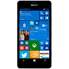 "Buy Microsoft Lumia 950 Smartphone, Windows Mobile, 5.2"", 4G LTE, SIM Free, 32GB Online at johnlewis.com"
