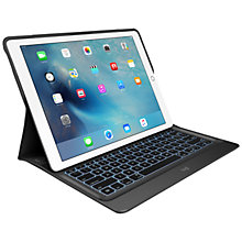 "Buy Logitech Create Backlit Keyboard Case for 12.9"" iPad Pro, Black Online at johnlewis.com"