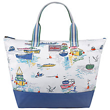Buy Cath Kidston Seaview Part Coated Beach Bag, White Online at johnlewis.com