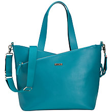 Buy Storksak Lucinda Leather Changing Bag, Teal Online at johnlewis.com