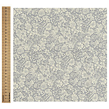 Buy John Louden Floral Print Fabric, Grey Online at johnlewis.com