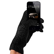 Buy Mujjo Touchscreen Gloves, Black, Medium Online at johnlewis.com