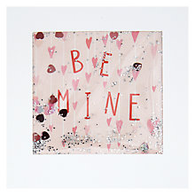 Buy James Ellis Stevens Be Mine Hanging Hearts Shakies Valentine's Day Card Online at johnlewis.com