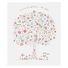 Buy Woodmansterne Butterfly with Flowers Tree Mother's Day Card Online at johnlewis.com