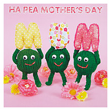 Buy Mint Ha Pea Mum Card Online at johnlewis.com