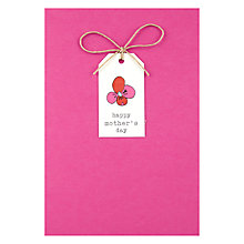 Buy Pink Tag Happy Mother's Day Card Online at johnlewis.com