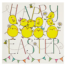 Buy Rachel Ellen Happy Easter Chicks and Bunting Card Online at johnlewis.com